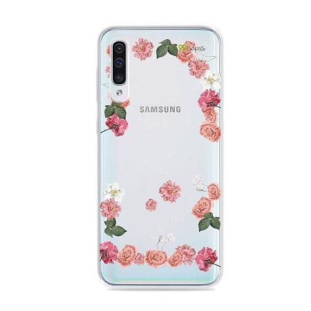 Capa para Galaxy A50 - Pink Roses