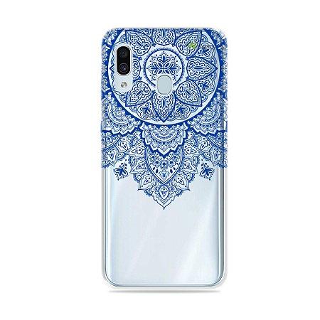 Capa para Galaxy A30 - Mandala Azul
