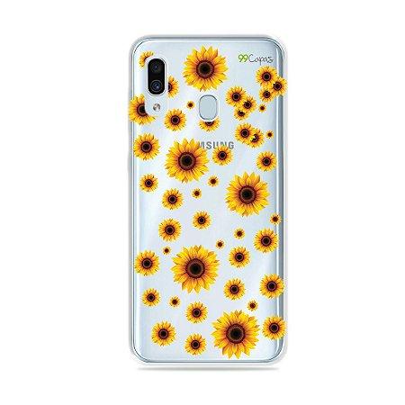 Capa para Galaxy A30 - Girassóis
