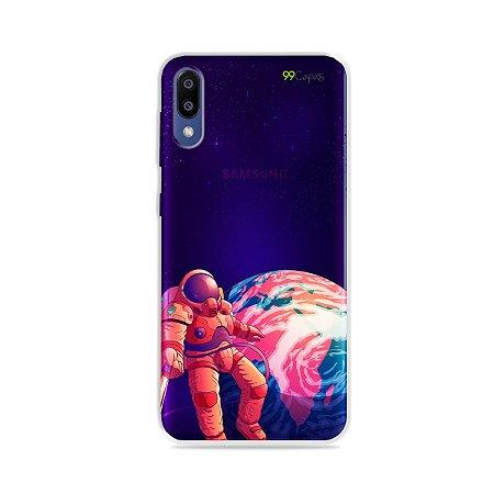 Capa para Galaxy M20 - Selfie Galáctica