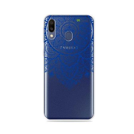 Capa para Galaxy M20 - Mandala Azul