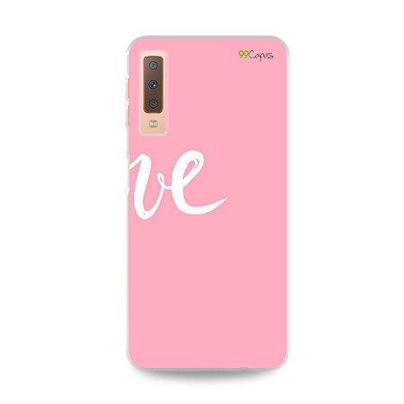 Capa para Galaxy A7 2018 - Love 2