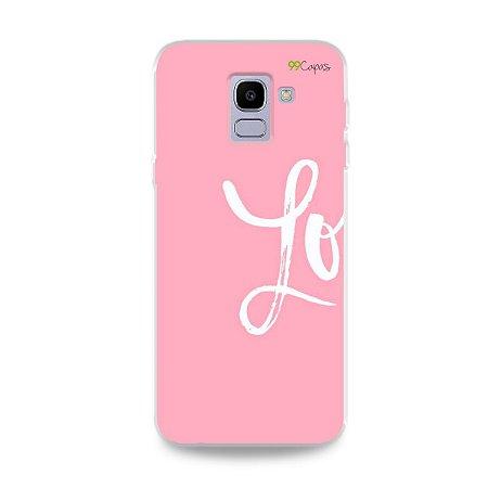 Capa para Galaxy J6 - Love 1