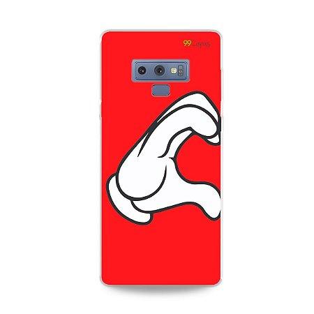 Capa para Galaxy Note 9 - Coração Mickey