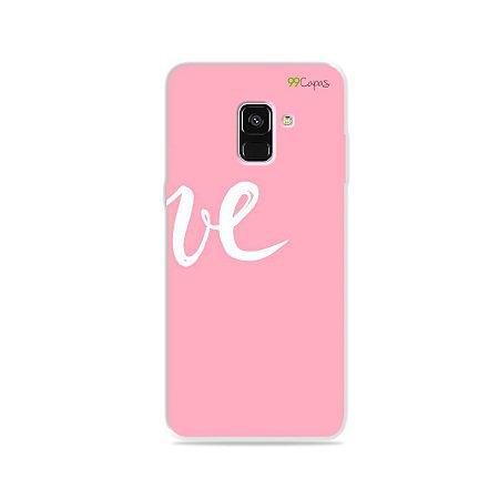 Capa para Galaxy A8 Plus 2018 - Love 2
