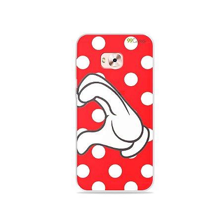 Capa para Zenfone 4 Selfie Pro - Coração Minnie