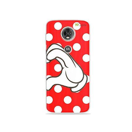 Capa para Moto E5 Plus - Coração Minnie