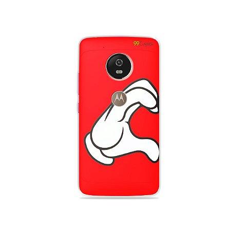 Capa para Moto G5 - Coração Mickey
