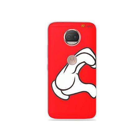 Capa para Moto G5S Plus - Coração Mickey