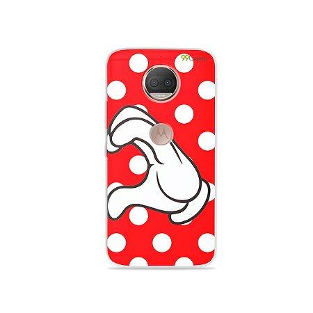 Capa para Moto G5S Plus - Coração Minnie