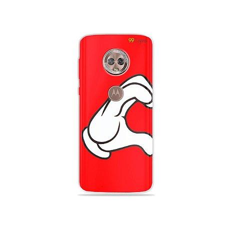 Capa para Moto G6 Plus - Coração Mickey