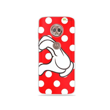 Capa para Moto G6 Plus - Coração Minnie
