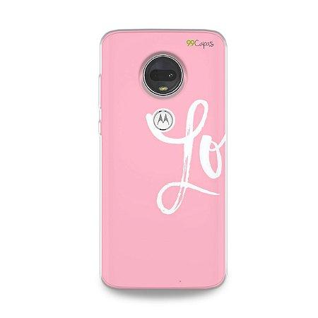 Capa para Moto G7 - Love 1
