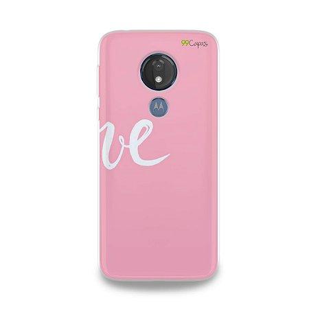 Capa para Moto G7 Power - Love 2