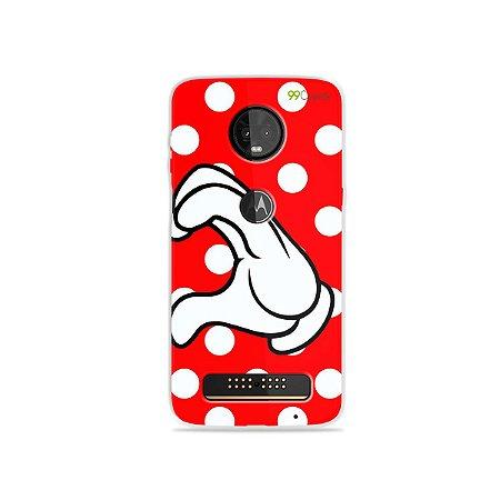 Capa para Moto Z3 Play - Coração Minnie
