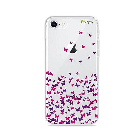 Capa para iPhone 8 - Borboletas Flutuantes
