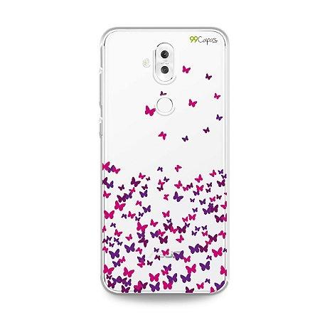 Capa para Zenfone 5 Selfie Pro - Borboletas Flutuantes