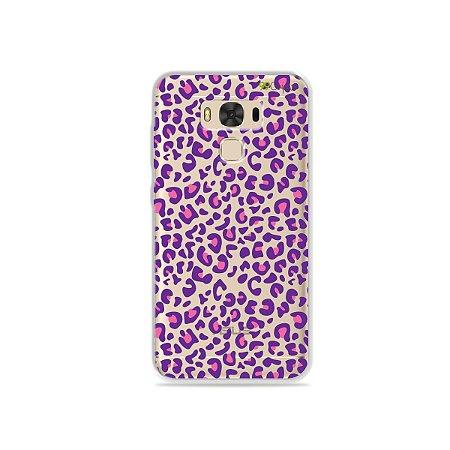 Capa para Asus Zenfone 3 Max - 5.5 Polegadas - Animal Print Purple
