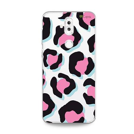 Capa para Zenfone 5 Selfie Pro - Animal Print Black & Pink