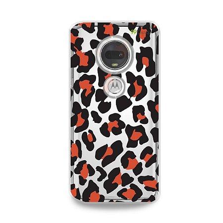 Capa para Moto G7 Plus - Animal Print Red