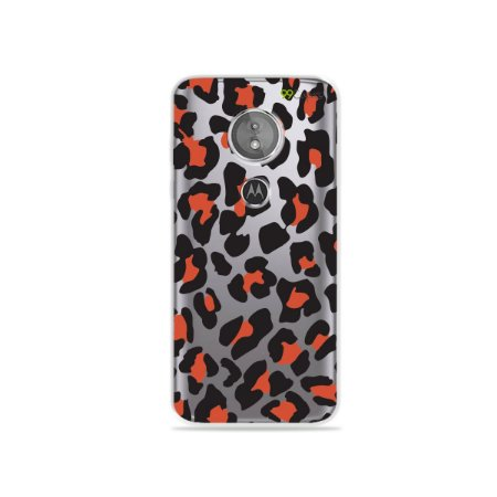 Capa para Moto E5 - Animal Print Red