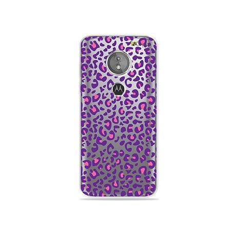 Capa para Moto E5 - Animal Print Purple