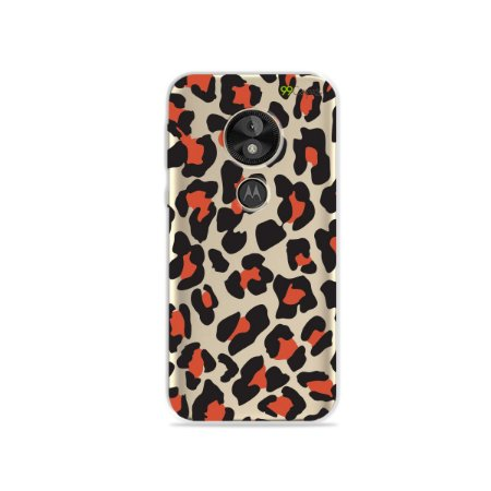 Capa para Moto E5 Play - Animal Print Red