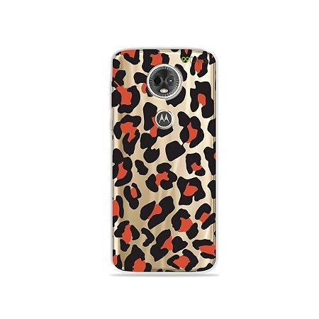 Capa para Moto E5 Plus - Animal Print Red