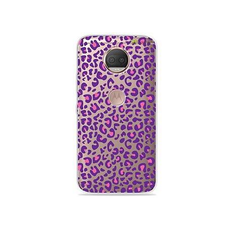Capa para Moto G5S Plus - Animal Print Purple
