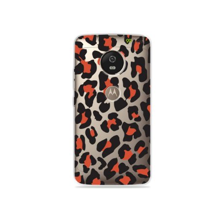 Capa para Moto G5 - Animal Print Red