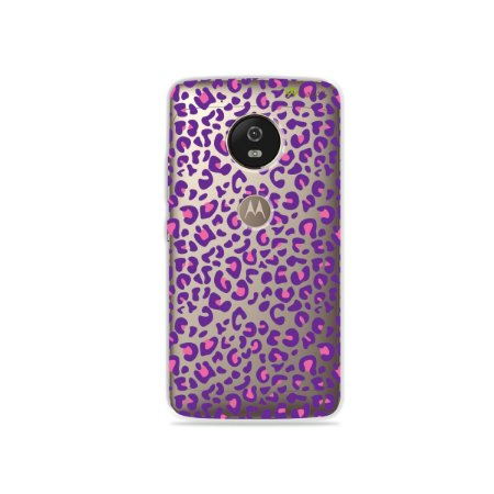 Capa para Moto G5 - Animal Print Purple