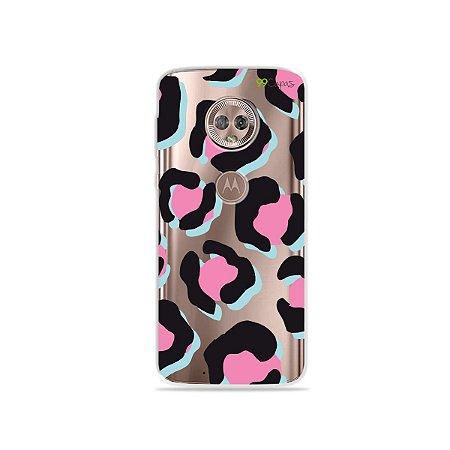 Capa para Moto G6 - Animal Print Black & Pink
