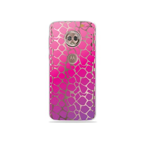 Capa para Moto G6 - Animal Print Pink