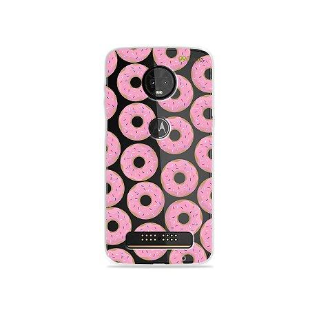 Capa para Moto Z3 Play - Donuts