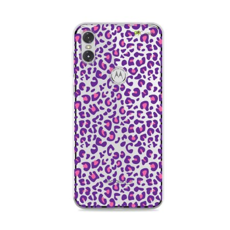 Capa para Moto One - Animal Print Purple