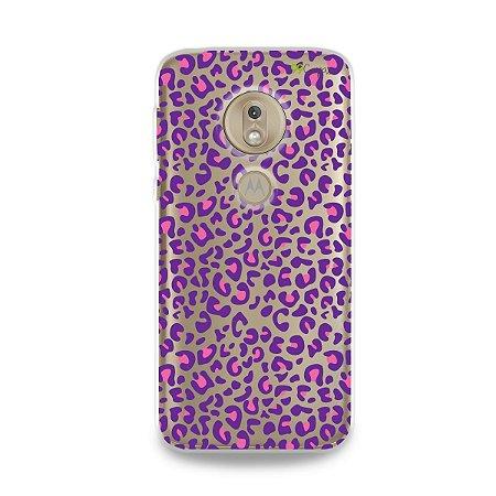 Capa para Moto G7 Play - Animal Print Purple