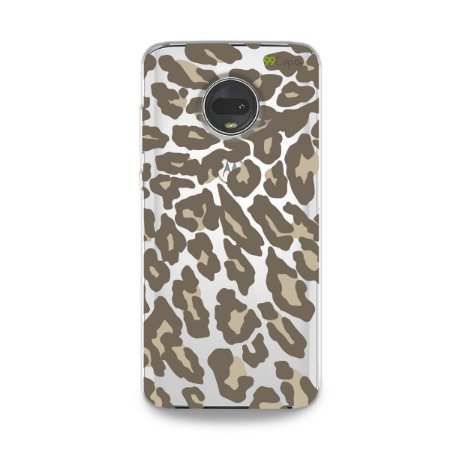 Capa para Moto G7 - Animal Print Nude