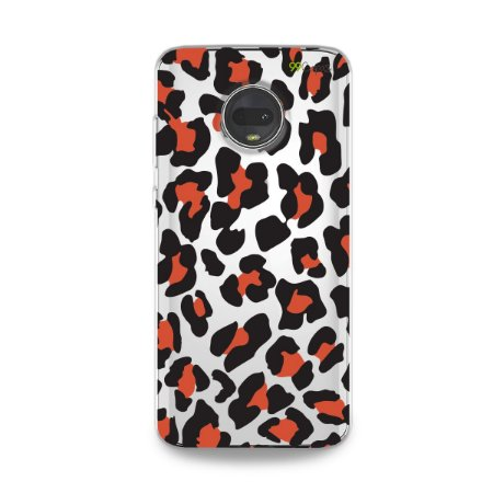 Capa para Moto G7 - Animal Print Red