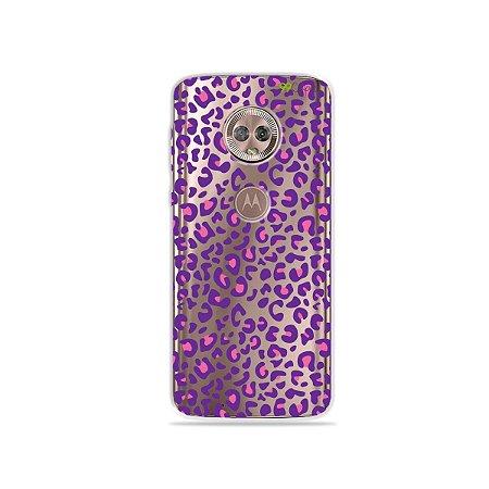 Capa para Moto G6 Plus - Animal Print Purple