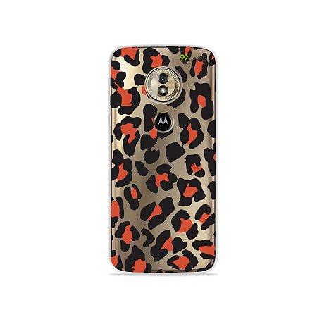 Capa para Moto G6 Play - Animal Print Red
