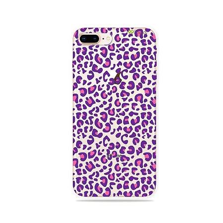 Capa para iPhone 7 Plus - Animal Print Purple