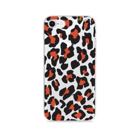 Capa para iPhone 8 - Animal Print Red