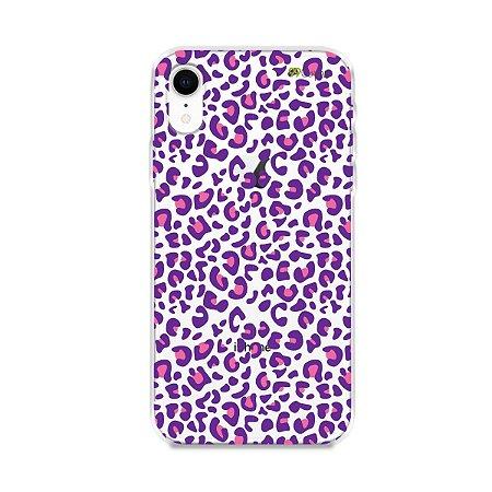 Capa para iPhone XR - Animal Print Purple