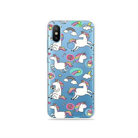 Capa para Xiaomi Mi 8 - Unicórnios Felizes