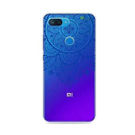 Capa para Xiaomi Mi 8 Lite - Mandala Azul