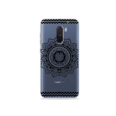 Capa para Xiaomi Pocophone F1 - Mandala Preta