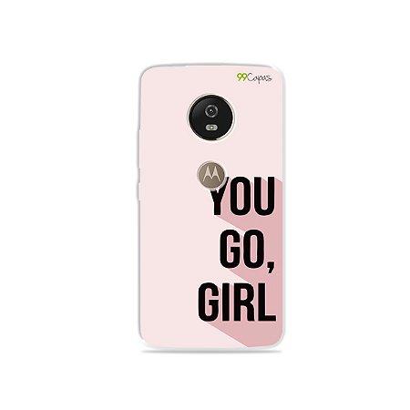 Capa para Moto G5 - You Go, Girl