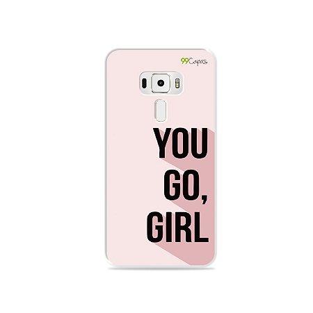 Capa para Asus Zenfone 3 - 5.2 Polegadas - You Go, Girl
