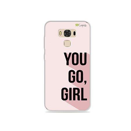 Capa para Asus Zenfone 3 Max - 5.5 Polegadas - You Go, Girl