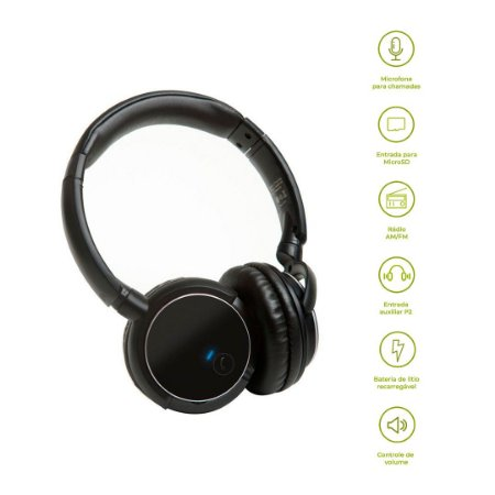 Headphone Bluetooth KB1 - Preto